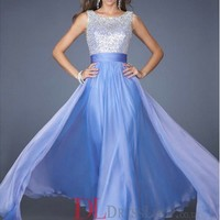 A-Line Bateau Sleeveless Chiffon Prom Dress/Party Dresses With Beaded VTBK051