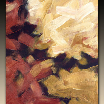 Copper and gold abstract giclee on canvas with by FinnellFineArt