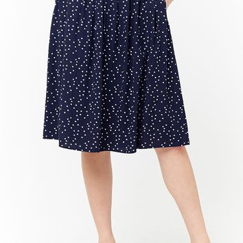 Polka Dot A-Line Skirt