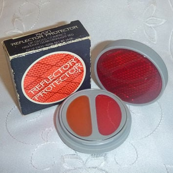 Retro Avon REFLECTOR Lip GLOSS Compact Unused 80s Vintage Bike Reflector Protector Retro Kitsch Avon Beauty Vanity Makeup Cosmetic Lip Shine