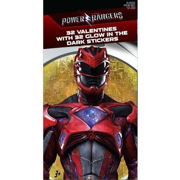 16ct Valentine's Day Power Rangers Glow in the Dark Stickers