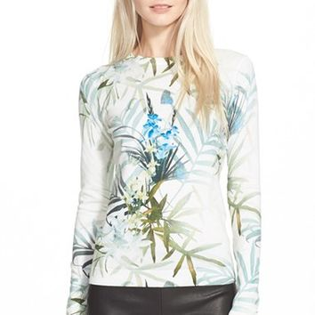 Women's Ted Baker London 'Nayda' Tropical Print Sweater,