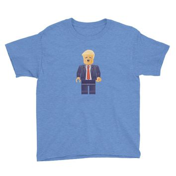 Trump Lego President Business Minifig Youth T-Shirt