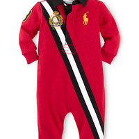 Ralph Lauren Childrenswear Baby Boys Long Sleeve Coverall