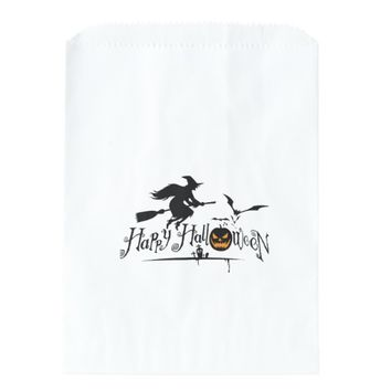 HAPPY HALLOWEEN WHITE FAVOR BAGS