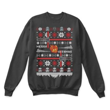 AUGUAU The First Order Merry Sithmas Star Wars Ugly Sweater