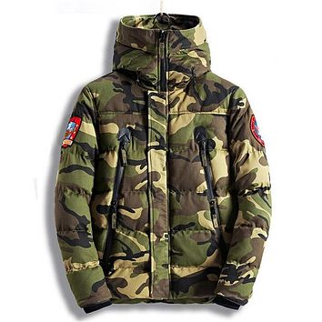 Mens Winter Coat Thick Warm Parkas Army Military Camouflage Outcoats Plus Size M-XXXL Camo Jackets Keep Warm Russian Winter Coat