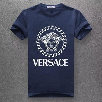 Versace Woman Men Fashion Casual  Shirt Top Tee