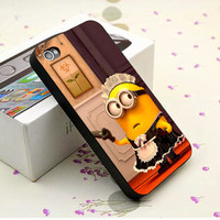 Cute Despicable Me Minion - iPhone 4/4s, iPhone 5, Samsung S3, Samsung S4 Print Hard Case, Black or White