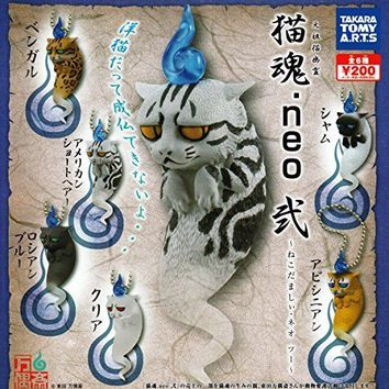 Capsule Toys Gashapon Original Cat Ghost Nekotamashi .neo Vol.2 6 Pics Set