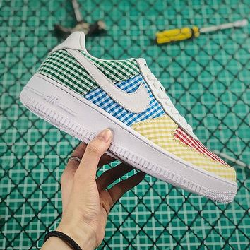 "Nike Air Force 1 Low QS ""Gingham Pack - Multicolor"" - Best Online Sale"