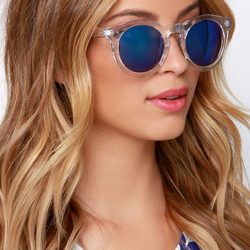 Vision of Love Clear Mirrored Sunglasses