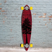 Punked In The Pines Red 40 inch Pintail Longboard