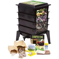 Black Worm Composter with Compost Tea Spigot - Indoor or Outdoor