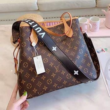 LV Louis Vuitton Popular Women Leather Handbag Shoulder Bag Purse Wallet Two-Piece Set