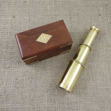 Brass Telescope Personalized Nautical Gift Engraved (Z-003)