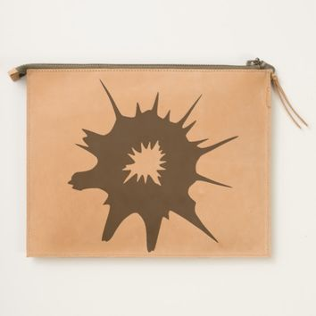 Black bullet hole. travel pouch