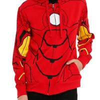 Marvel Iron Man My Iron Suit Costume Zip Hoodie