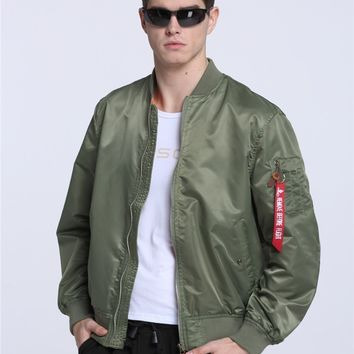 High Quality Ma1 Army Green Tactical Military varsity Flight Windbreaker Pilot US Air Force Bomber Jacket for Men Clothes