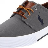 Polo Ralph Lauren Men's Faxon Low Sneaker, Grey, 9.5 D US