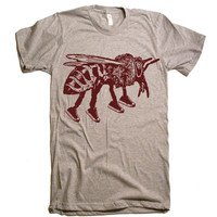 Mens Bee Runner T Shirt - American Apparel Tshirt - XS S M L XL and XXL (28 Color Options)