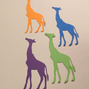 20 Giraffe Die Cut (3.5 inches tall), Scrapbooking, Card Making, Create Banners, Enhance Gift Wrapping