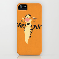 Winnie the Pooh Tigger Nursery Art Retro Style Minimalist Poster Print iPhone & iPod Case by The Retro Inc