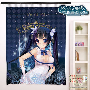 New Hestia - DanMachi Anime Japanese Window Curtain Door Entrance Room Partition H0085