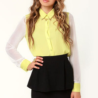 Peplum Lovin' Black Mini Skirt