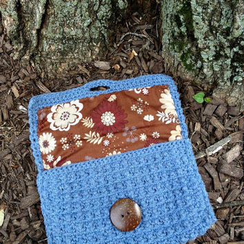 Blue Jean's Partner Crocheted Cotton by HighInFiberELR on Etsy