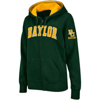Baylor Bears Women's Classic Arch Full Zip Hooded Sweatshirt – Green