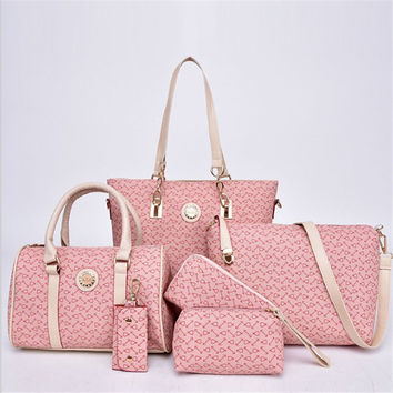 6-pcs Stylish Shoulder Bags Tote Bag [6582286471]