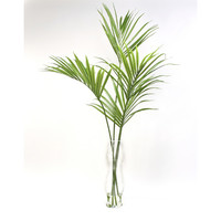 Distinctive Designs Silk Kentia Palm in Glass Floor Vase
