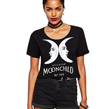 Moon Child Black T-Shirt