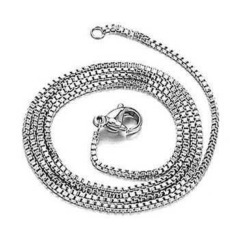 18k White Gold Plated Stainless Steel Chain GL112