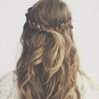 half up braid #festivalfox | Summer Hair/ Hair Ideas! | Pinterest