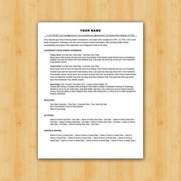 Easy to Edit Professional Resume Template - The Lancaster Design - Helping YOU Save Time & Get The Dream Job You Deserve - Instant Download