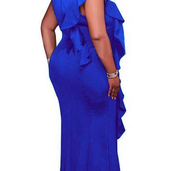 Plus Size African Fit and Flare Long Maxi Dress