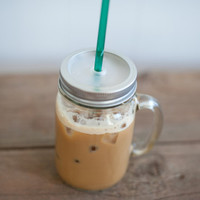 16 oz. Mason Jar Tumbler Mug - Iced Coffee To Go - Eco Friendly Tumbler - Travel Mug