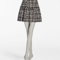 Dolce & gabbana wool tweed skirt with flounce, mini skirt women | dg online store, d&g