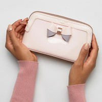 Ted Baker Colour Block Bow Make Up Bag at asos.com
