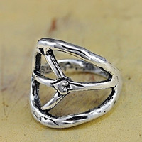 Peace Sign Ring - Island Cowgirl Jewelry - Handmade Peace Ring - Peace Sign Jewelry - Inspirational Jewelry