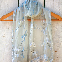 Lace Edged Scarf - Upcycle