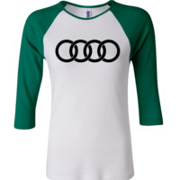 Audi 3/4 Sleeve Baseball Ladies Jersey
