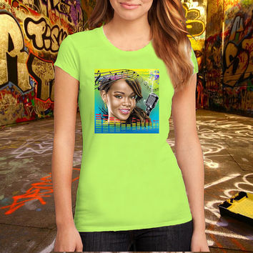 Vector Rihanna T Shirt Printed T Shirt, Women T Shirt, (Various Color Available)