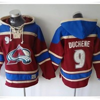 Hoodies Jerseys  ICE Hockey Avalanche #9 DUCHENE 19 Sakic 29 MacKinnon Red Best quality stitching Jerseys Sports jersey