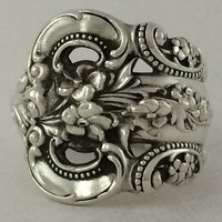 Size 8 Vintage Sterling Silver Wallace Spoon Ring