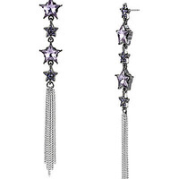 BetseyJohnson.com - HEART AND TASSEL EARRING HEMATITE