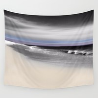 Lovely Twilight Seascape 2 Wall Tapestry by Jen Warmuth Art And Design