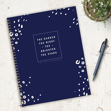 Bright Stars Large Academic Weekly/Monthly Planner